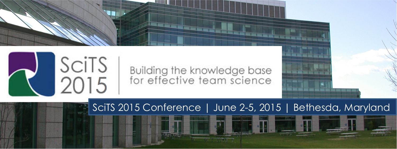 SciTS 2015 conference banner with Natcher background